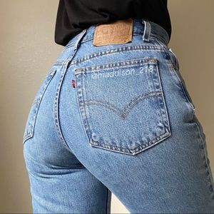 """LEVIS Vintage 550 High Rise Tapered Mom Jeans 28"""""""